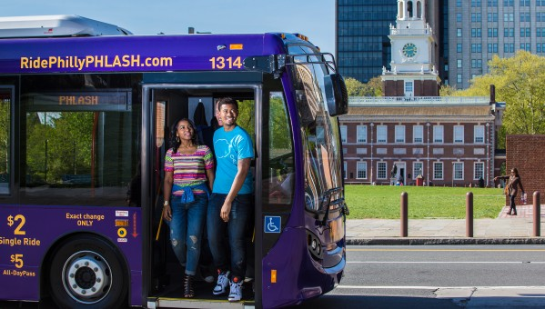 PHLASH in front of Independence Hall